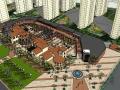 西班牙风格商业街建筑设计方案SU模型