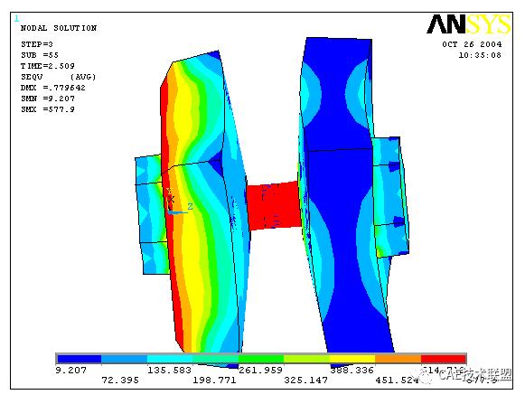 拉力作用下高强螺栓连接的ansys模拟