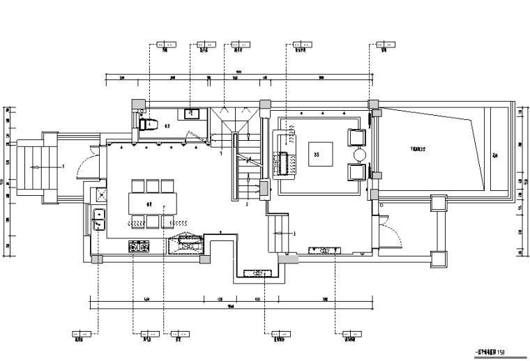 简约中式风格丽景英郡样板房设计施工图(附效果图)