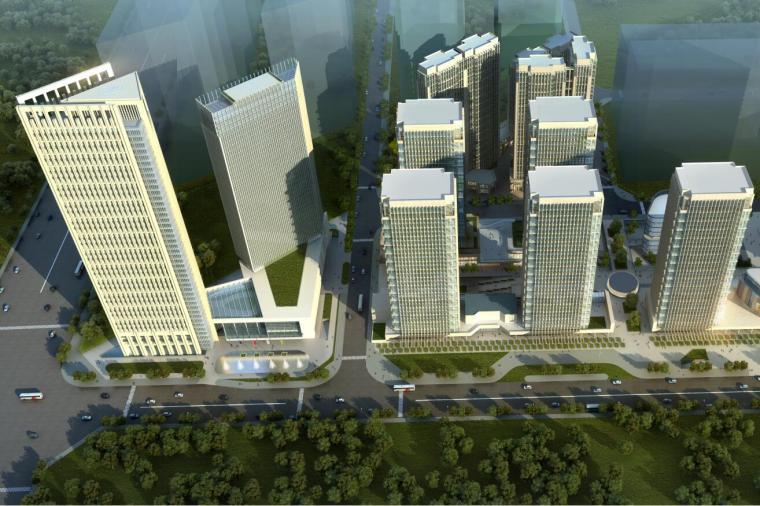 [四川]大源商务区建筑及景观设计建筑方案文本(PDF+75页)