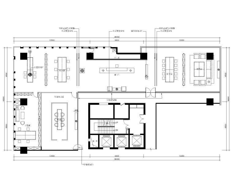 [山东]中式--山东叙品办公空间CAD(附效果图+实景图)