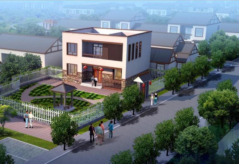 [安徽]某村美好乡村建设规划方案设计文本(JPG+69页)