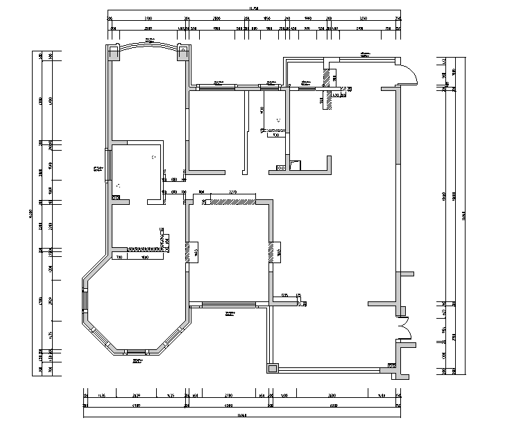 [江苏]素白风住宅装修设计施工图(附效果图)_3