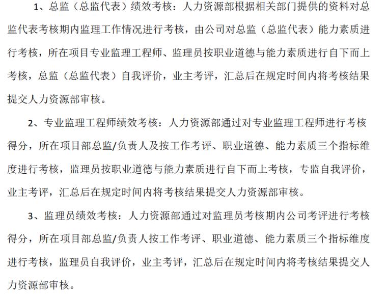 安徽远信工程项目管理监理人员岗位绩效考核管理办法(共16)