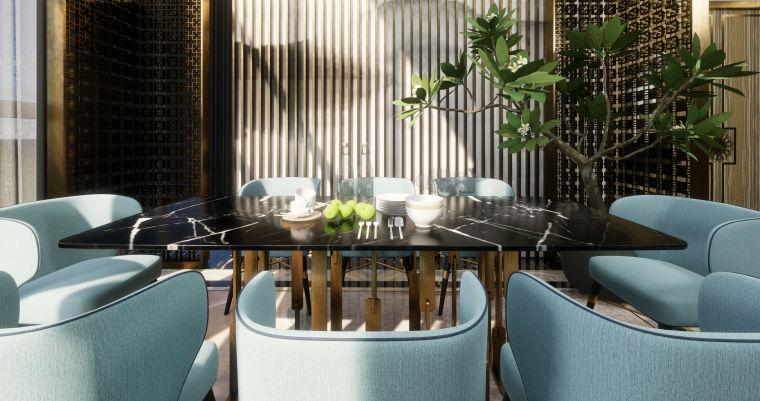 豪华loft室内设计客餐厅模型设计(2018年)-X 10