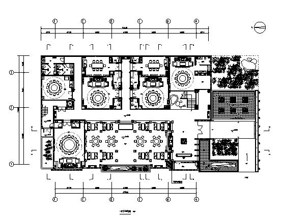 [郑州]中式五星级酒店餐厅室内空间设计施工图(含效果图)
