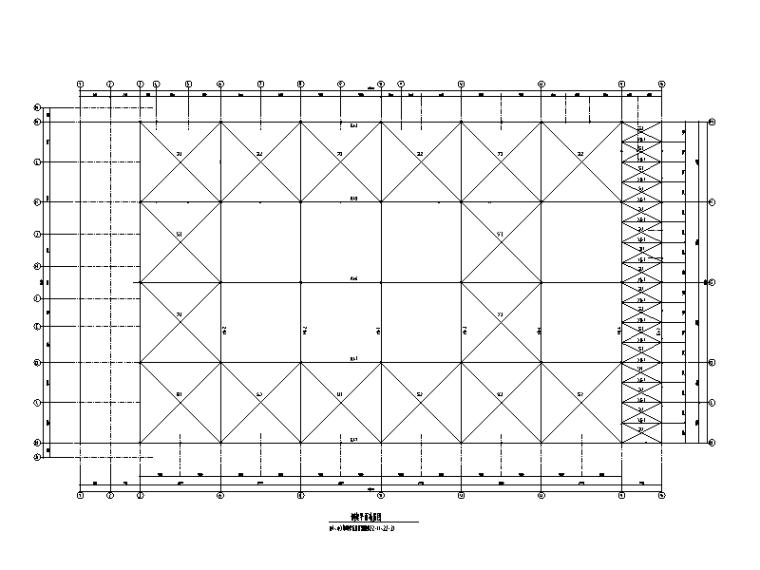 [重庆]钢桁架研发厂房建筑结构施工图(辅房为钢框架结构,2015)