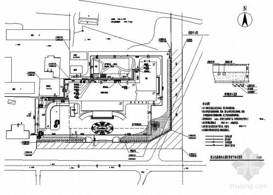 山西某公司综合化验楼室外给水消防管道平面布置图