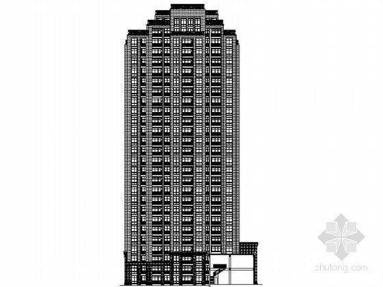 [河南]某居住区二十六层沿街商住楼建筑施工图