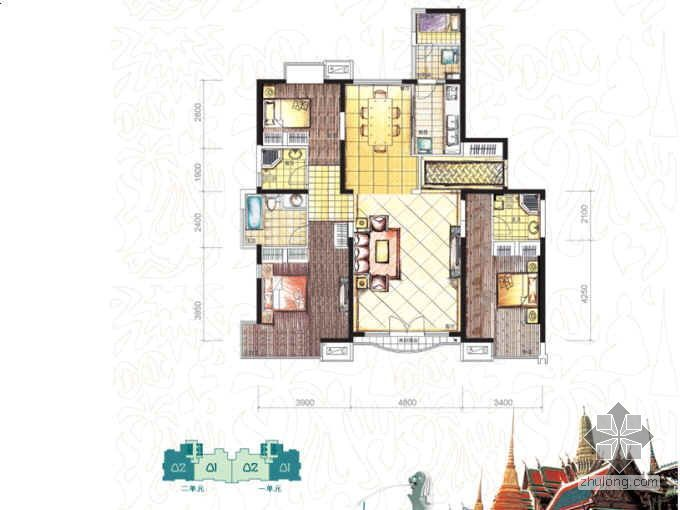 [北京]朝阳区某东南亚主题建筑社区设计分析
