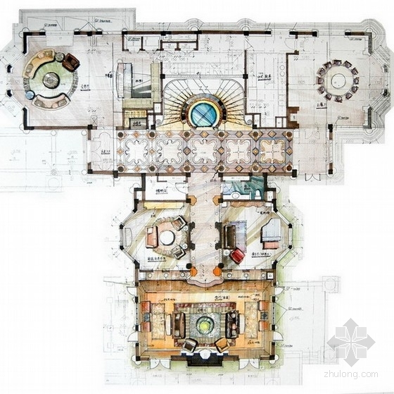 欧式古典家装效果图资料下载-[上海]中国超经典欧式古典风格豪宅设计方案