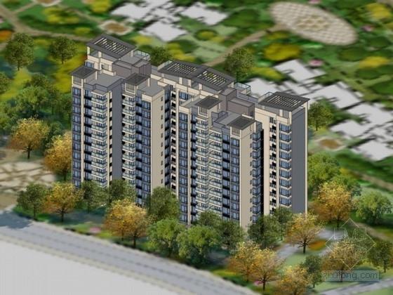 [海口]景观式现代风格小高层住宅楼设计方案文本(知名设计院)