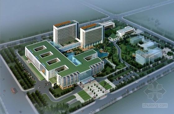 [南京]现代化玻璃与钢材墙面县级600床人民医院建筑设计方案文本