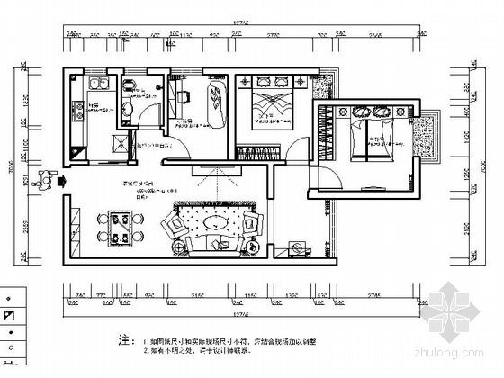 [贵阳]简欧三居室室内装修图