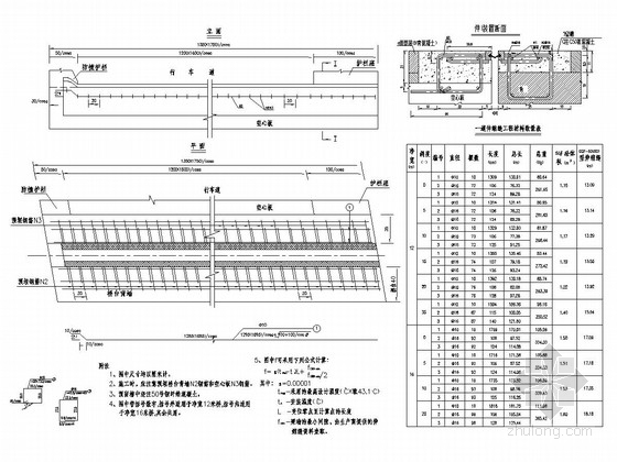 桥梁工程CQF伸缩缝通用设计图