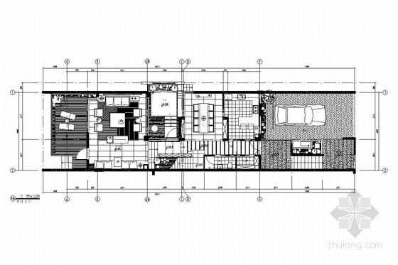[重庆]中式风格三层别墅室内装修图(含效果图)
