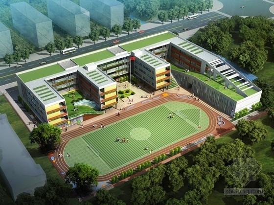 [深圳]绿色生态多层现代风格小学校园建筑设计方案文本