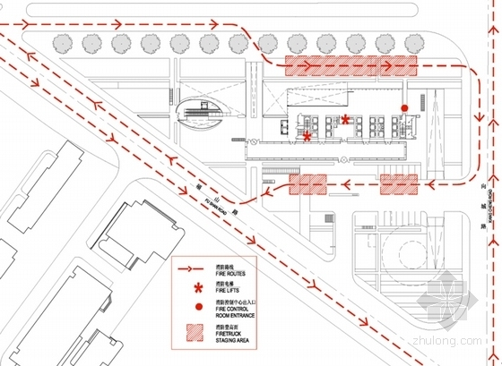 [上海]超高层知名金融办公建筑设计方案文本(知名事务所)-超高层知名金融办公建筑分析图