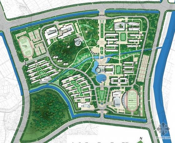 南京大学校区景观规划方案(包含建筑设计图)