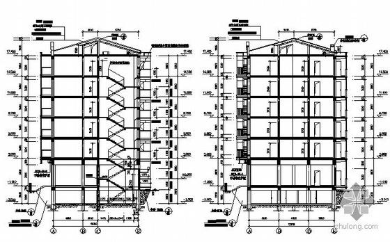 某县抗旱服务站六层商宅楼建筑施工图-2