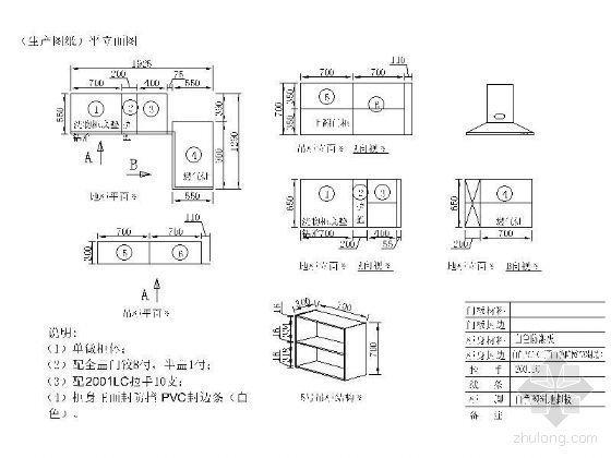 整体橱柜设计图(含效果)