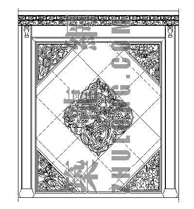 中式造型墙006