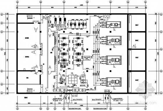 某动力站动力系统设计全套图纸(制冷机房 锅炉房)