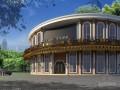 欧式风格酒吧室外建筑3d模型下载