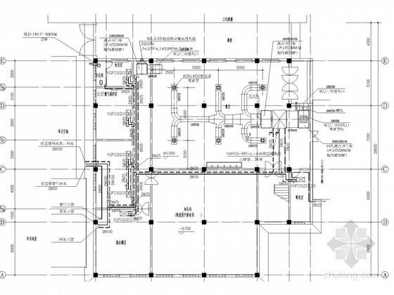 [山西]多层行政商业办公楼空调系统设计施工图(含给排水设计 消防设计)