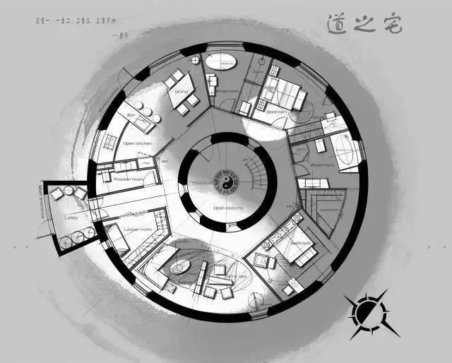 深度解析!一个圆形户型的15个高超方案!_10