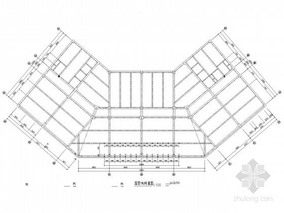 酒店屋顶广告牌钢桁架结构设计