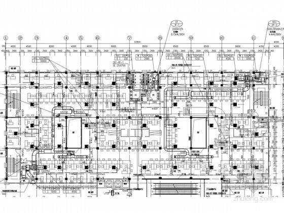 [江苏]办公建筑改扩建工程空调通风排烟系统设计方案图(多联机系统)