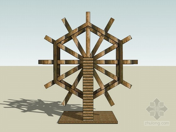 水车sketchup模型
