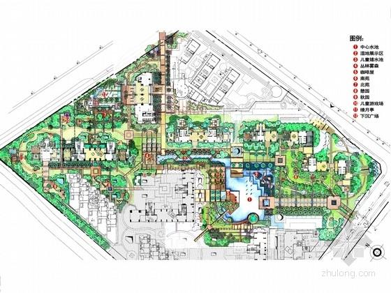 [广东]现代岭南风格居住区景观扩初设计方案(知名设计机构)