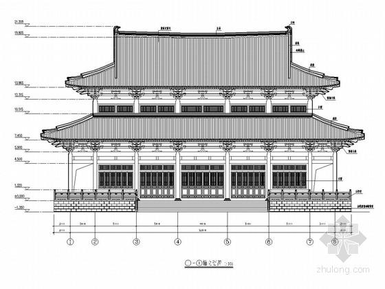 古建观音殿建筑结构全套施工图