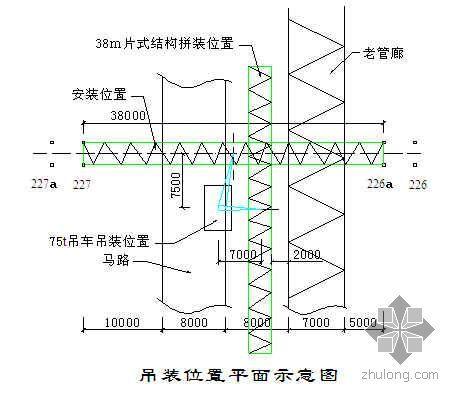 丁苯外围配套管廊工程38米大跨度钢结构吊装(管廊成片吊装法)