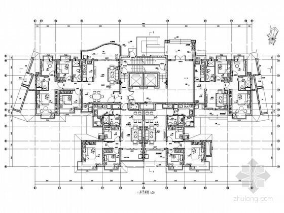 [成都]大型一类高层小区项目弱电系统施工图纸87张(32层,含地下室及幼儿园)