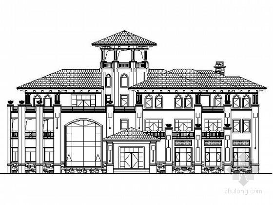某三层欧式豪宅建筑施工图(1200平方米)