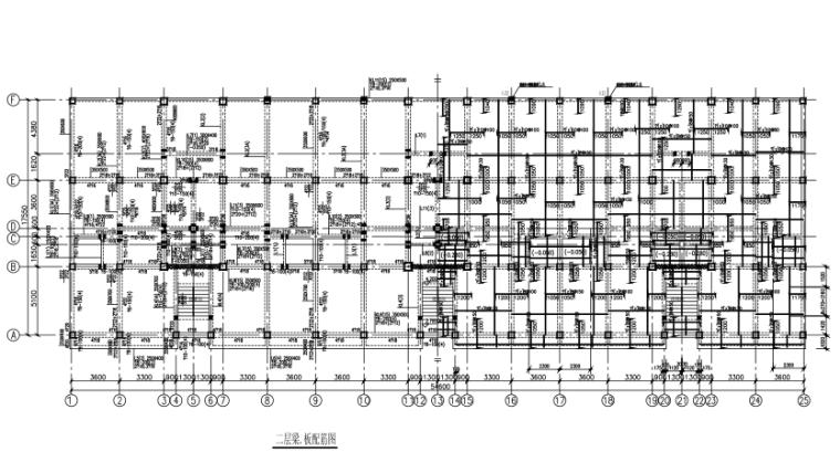 底层框架上部砖混结构5层住宅楼结构施工图(CAD、10张)