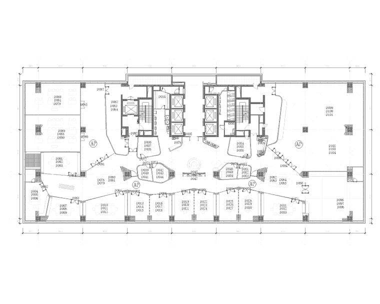 [上海]B&CO设计-利丰广场办公室CAD施工图+效果图+材料样板+工程报价