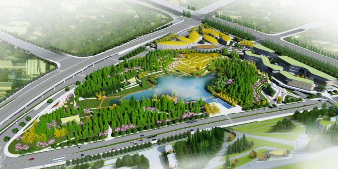 [湖南]滨水城市稻田农耕文化公园景观设计全套施工图(附景观效果图)