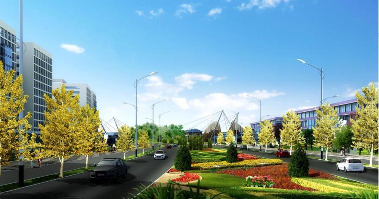 [重庆]某县迎宾大道地区城市设计景观方案设计——中规院