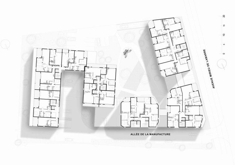 法国花式隔热混凝土的公寓楼平面图(15)