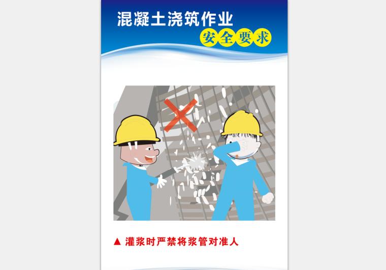 [安全月]混凝土浇筑作业安全要求高清挂图