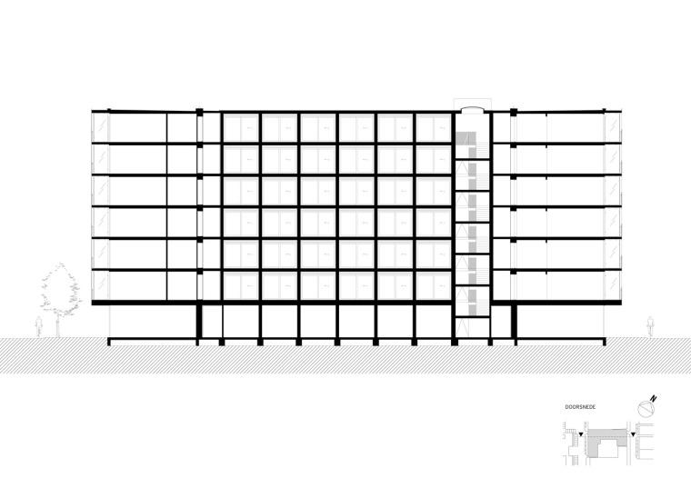 荷兰预制混凝土模块式的住宅-荷兰预制混凝土模块的住宅立面图(12)