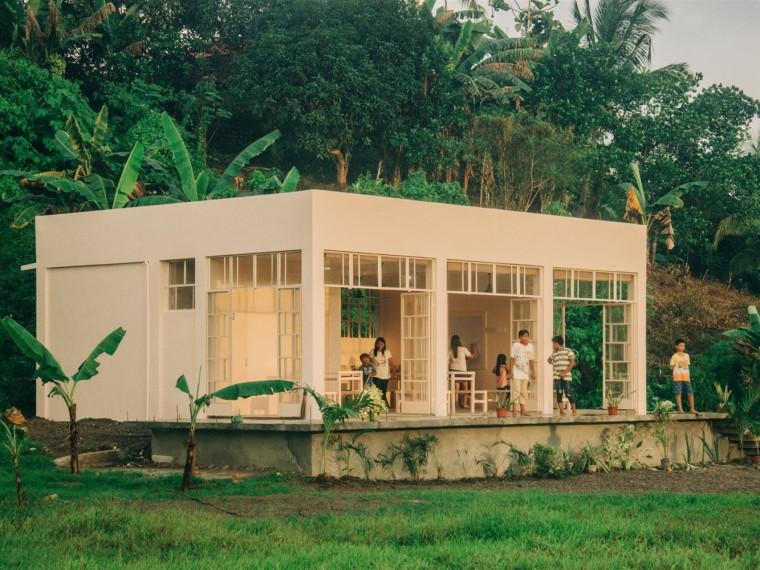 菲律宾村庄的儿童学习中心