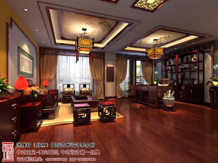 唐山别墅中式设计效果图,高贵多古雅之风_1
