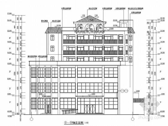 [河南]六层框架结构温泉度假酒店全套图(建筑、结构、水暖电)