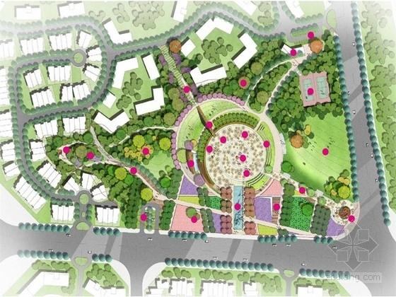 [湖南]都市人文风格公共空间景观设计方案