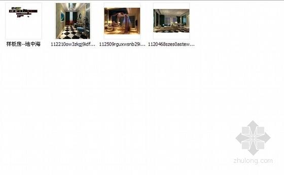 [广州]地知名地产风格两居室样板房室内设计施工图(含效果图) 总缩略图